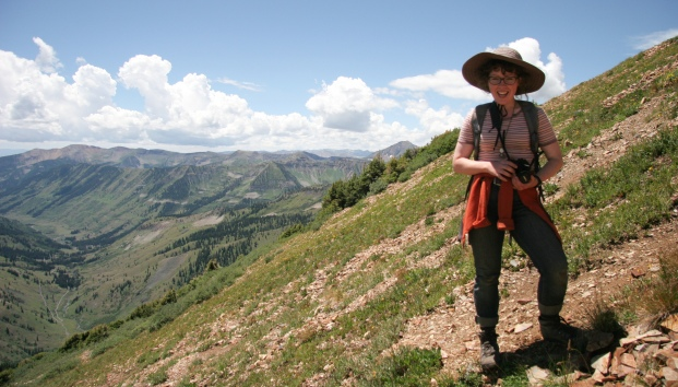 Janie in her beloved Rockies