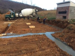 pouring the footer