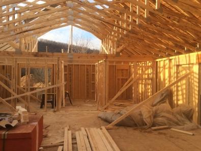 The loft takes shape