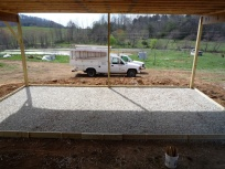 vegetable packing shed slab