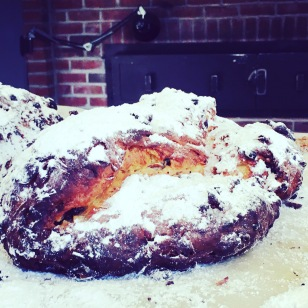 Christmas stollen, fresh from the oven